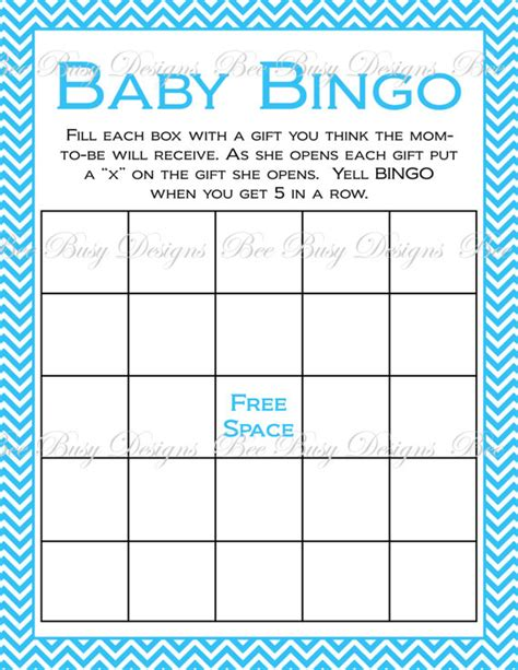 baby shower bingo free beebusy13 on etsy