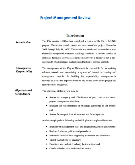 sle management review templates 6 free documents
