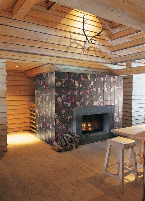 der on fireplace ceramic wall tiles tuli pop 2 by ceramica bardelli design