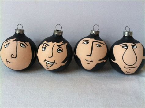 the beatles hand painted ornament set of fab four i need
