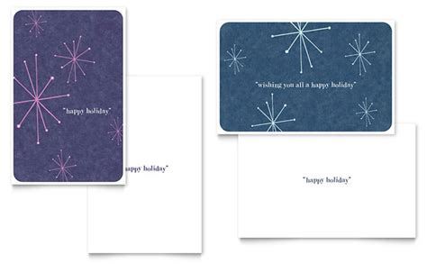 snowflake card template snowflake wishes greeting card template design