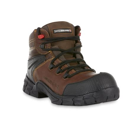 branded boots for swissbrand s gladiator brown leather composite toe 6