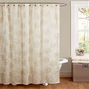 Bed Bath Beyond Shower Curtains Buy Samantha Shower Curtain In Ivory From Bed Bath Amp Beyond
