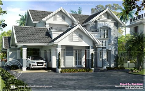 European Style Home | semi european style beautiful villa kerala home design