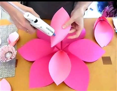 Alana Style Diy Giant Paper Flower Catching Colorlfies Hawaiian Flower Template