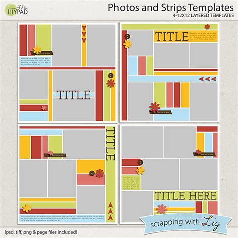 digital photo layout templates free digital scrapbook layout templates www imgkid com