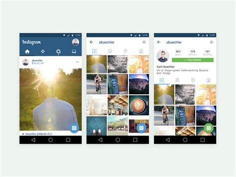 instagram mobile free instagram mobile app ui template free psd at freepsd cc