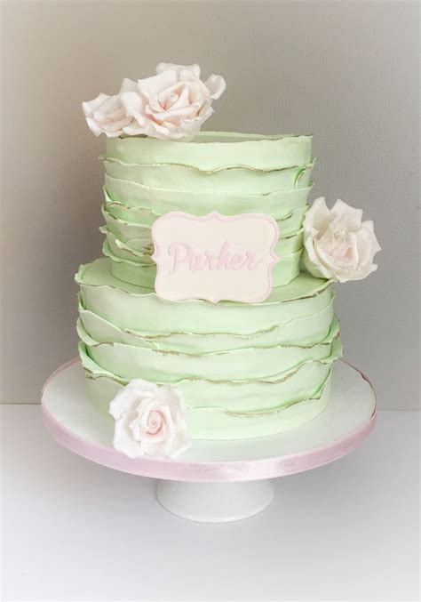 Green Baby Shower Cake by Best 25 Mint Green Cakes Ideas On Vintage