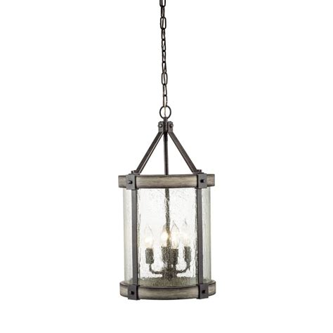 kichler lighting pendants shop kichler lighting barrington 12 01 in w anvil iron and