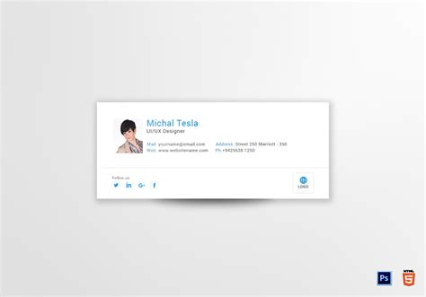designing an email template ui ux designer email signature design template in psd html