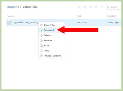 dropbox yahoo how to use dropbox with yahoo mail 12 steps with pictures