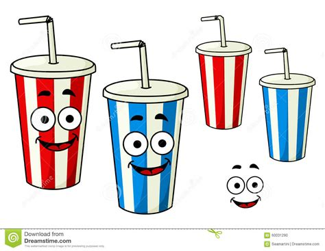 martini cup cartoon cartoon takeaway soda striped cups stock vector image