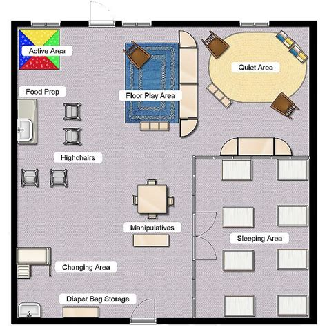 preschool room arrangement floor plans infant class layout classroom layout pinterest