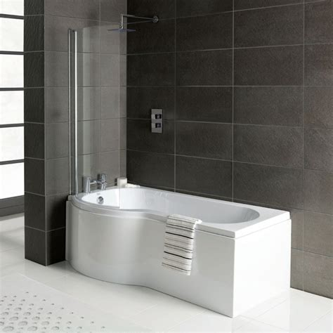p shaped bathtub p shaped shower bath 1700 x 850 with screen and panel