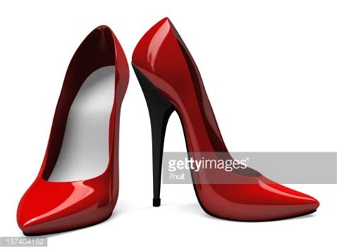 high heels photography 3d high heels shoes front and side view stock photo