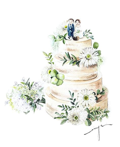 Hochzeitstorte Zeichnung by 681 Best Cakes And Desserts Illustrations Images On
