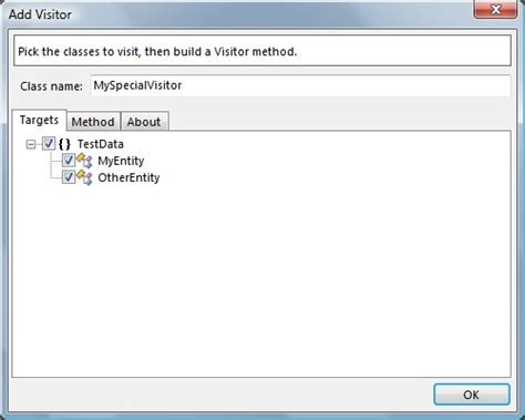 visitor pattern visit method a tool for making c visitors codeproject