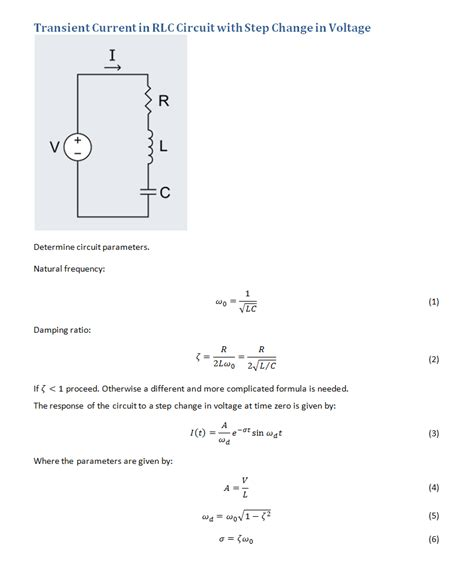 derive capacitor charging equation derive peak current in rlc circuit charging a capacitor page 1
