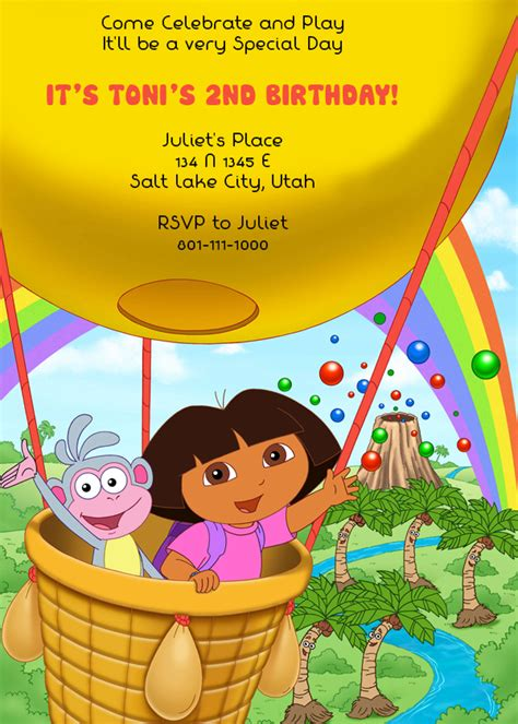 printable invitations dora the explorer dora invitation template invitation template