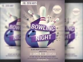 bowling nights party flyer template by christos andronicou