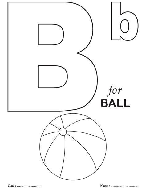 Coloring Page Letter B by Letter B Coloring Worksheet Coloring Pages