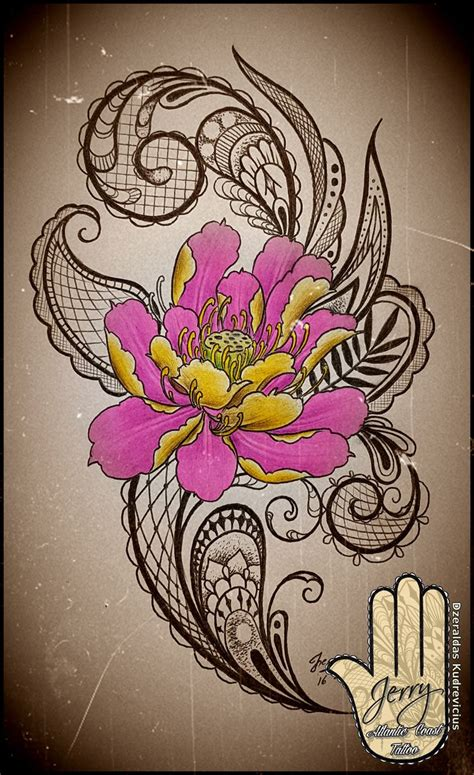 lace flower tattoo designs lotus flower femenine idea design with mendi and