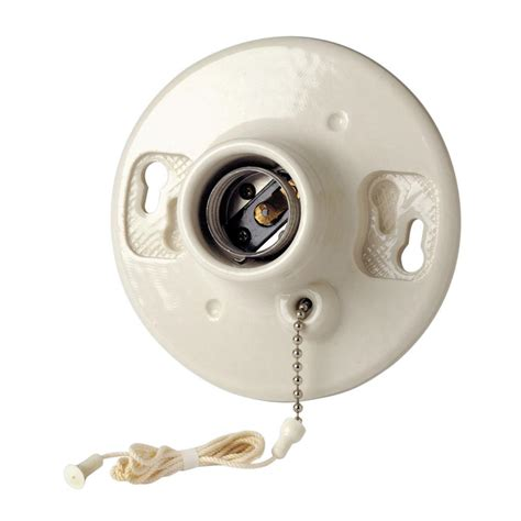 Ceiling Light Holder Leviton 600 Watt 250 Volt Outlet Box Lholder White R50 49875 000 The Home Depot