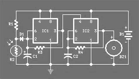 Alarm Anti Maling rangkaian alarm anti maling kumpulan skema elektronika