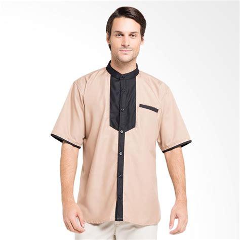 Baju Muslim Baju Koko Coklat jual allev husni shirt baju koko pria coklat