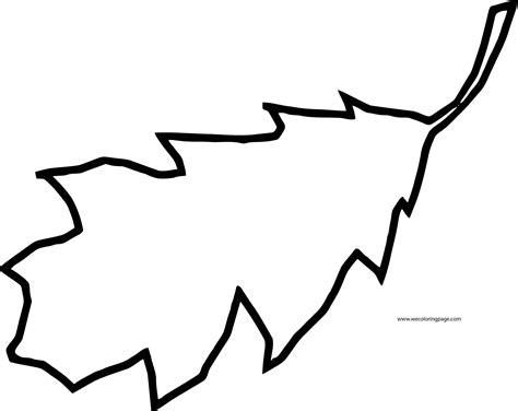 fall leaf coloring pages fall leaf one coloring page wecoloringpage