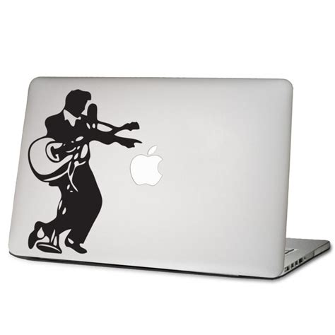 Apple Aufkleber Notebook by Elvis Presley Mit Gitarre Laptop Macbook Sticker Aufkleber