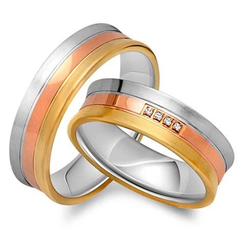 Eheringe Tricolor by Eheringe 333er Tricolor Gold 4 Diamanten Ehe0122 3s