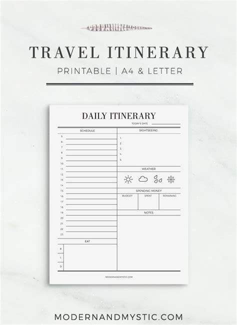 printable itinerary planner travel itinerary printable printable travel schedule