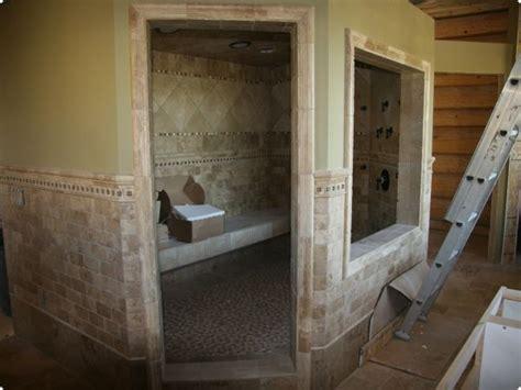 steam room when sick sauna shower on patio