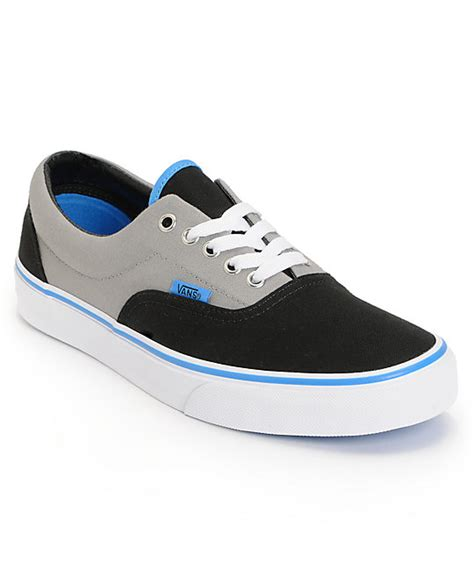 Vans Zapato Blue vans era black grey blue skate shoes mens at zumiez