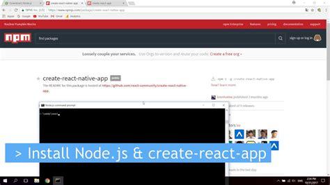 node js react tutorial tutorial how to install node js create react app