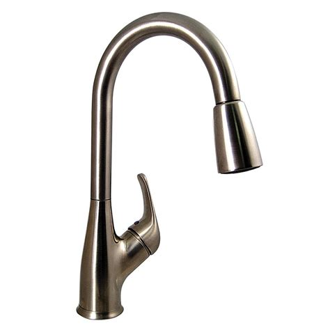 kitchen pull down faucet brushed nickel finish valterra