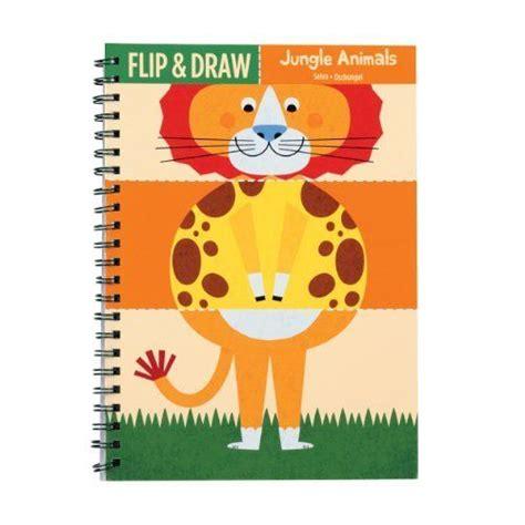 jungle animals flip  draw  mudpuppy   mix