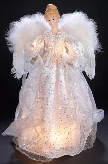 christmas decorations  white  silver lighted angel