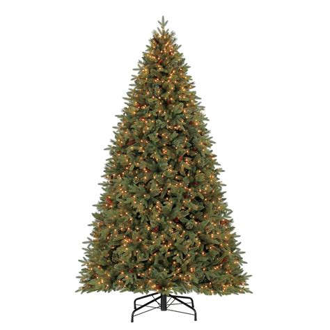 shop holiday living 9 ft pre lit hayden pine artificial