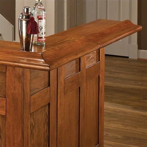Oak Home Bar Hillsdale Classic Large Oak Wrap Around Home Bar 62576axoak
