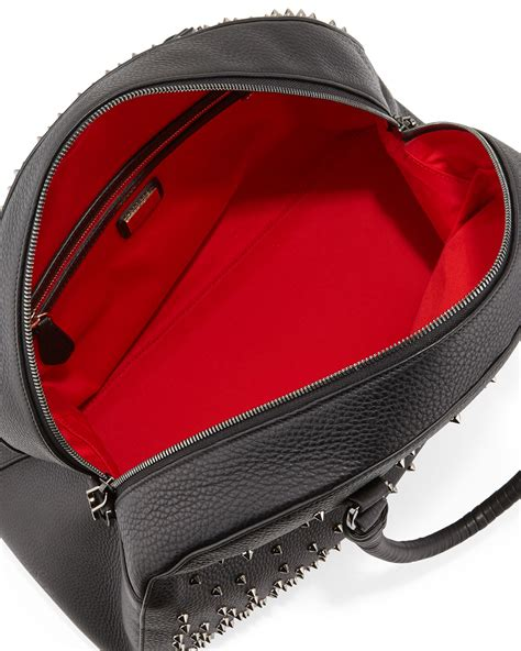 Christian Louboutin Alpaca Satchel by Lyst Christian Louboutin Panettone Large Degrade Spiked