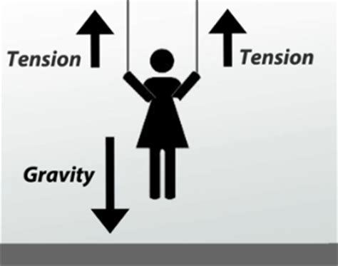 tension free diagram determining the individual forces acting upon an object