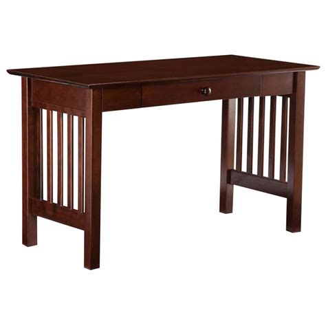 atlantic furniture mission writing desk in walnut ah12214