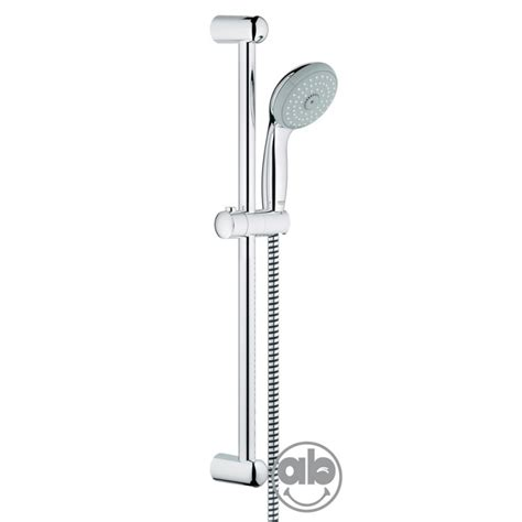 doccia con saliscendi set saliscendi con asta da 60 cm e doccetta 3 getti grohe