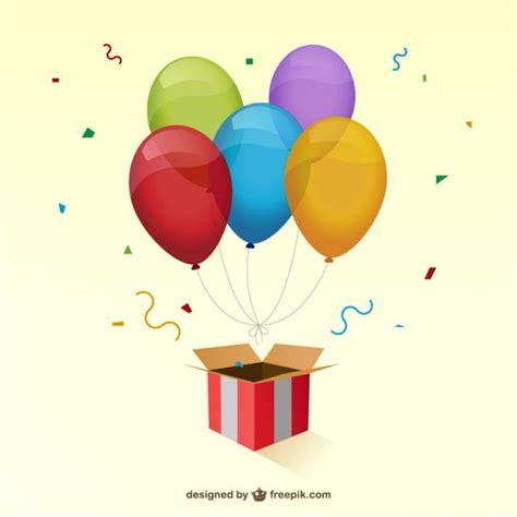 imagenes de regalo con globos deamor caja de regalo y globos de colores descargar vectores