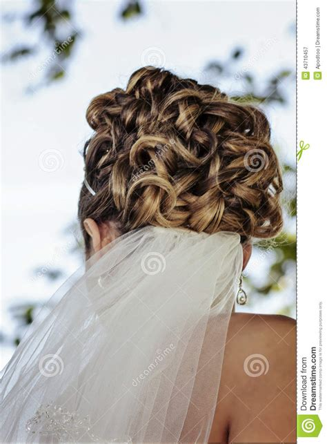 wedding updos no veil bridal updo hair with veil stock photo image 43710457