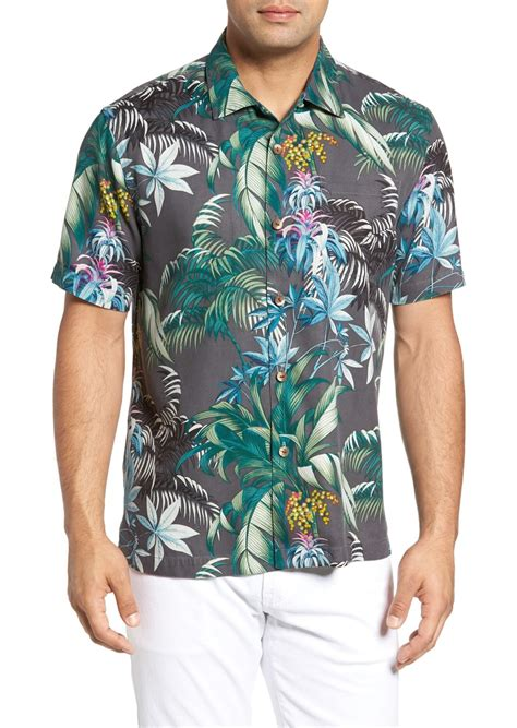 bahama shirts bahama bahama tropical falls regular fit print silk c shirt casual shirts