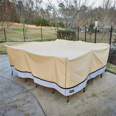 Square Patio Furniture Cover Square Patio Furniture Set Cover By Seasons Sentry 84 226 Length X 84 226 Width X Ebay