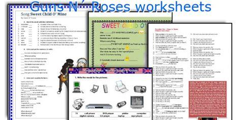english teaching worksheets guns  roses